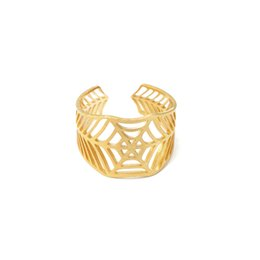 Wholesale Spiders Rings Jewelry - Wholesale 10Pcs lot High Quality 2017 Fashion Midi Rings Stainless Steel Jewelry Spider Web Adjustable Gold Filled Rings