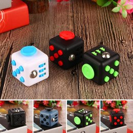 Wholesale Children Plastic Toys - Fidget Cube With Button Anti Irritability Toy Stress Relief for Adults and Children 12 Fidget Vinyl Desk Relax Toy