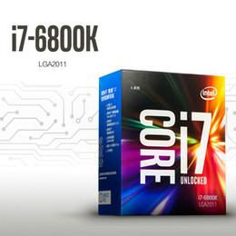 Wholesale Computer Intel Core - Original Intel CPU Core I7 6800K Processor 3.4GHz 15MB Cache 6 Core 12 Thread Socket LGA2011-V3 Quad-channel DDR4 2400 RAM Desktop Computer
