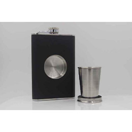 Wholesale Flask 8oz Black - 8oz Protable Shot Hip Flask Stainless Steel High-grade Flagon Mini Flask Gift Originality For Outdoor add Funnel and Telescopic cup A210