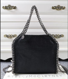 Wholesale Crossbody Canvas - Free shippng Import PVC Stell bag Classic totes luxury Fashion handle crossbody 3 chains women's shoulder bag small size 25x26x10cm