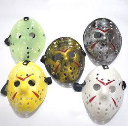 Wholesale Jason Mask Wholesale - Halloween Cosplay Costume Porous Mask Jason Voorhees Friday The 13th Horror Movie Hockey Full Face Mask Party Mask 100pcs