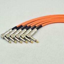 6X 30CM angle droit 1/4 mono effet de guitare câble de tableau de brassage Patch Cord Orange ? partir de fabricateur