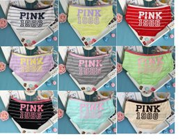 Wholesale Girls Underwear Briefs - PINK 1986 Underwear Pink Letter Candy Color Cotton Underwear Women Briefs Girls Knickers Underpants Panties 6 colors 100pcs