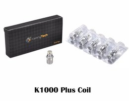 Wholesale X6 Vaporizer E Cigarette - 5cps lot Original Kamry Atomizer Coil Replaceable Sub 0.5ohm 0.8ohm 0.14ohm X6 Plus Coils K1000 Atomizer E Cigarette Vaporizer Coils