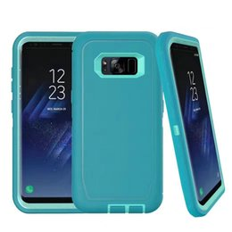 Wholesale Galaxy Phone Plastic Cases - Luxury Defender Case for Samsung Galaxy S8   S8 Plus Shockproof Cover Rugged Hybrid Armor Heavy Duty Cases Mobile Phone Shell