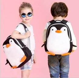 Wholesale Cartoon Penguin Bags - Cartoon Penguin Backpacks for Kids Children School Bag Children Backpack Kindergarten Kids Bag Animal Schoolbag KKA2068