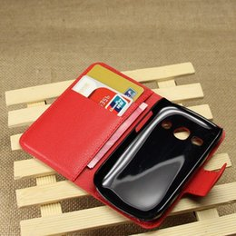 Wholesale Galaxy Fame Phone - New Arrival High Quality Luxury Leather Flip Case for Samsung Galaxy Fame S6810 6810 Phone with Card Slots Phone case Cover