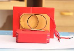 Wholesale 14k Rose Gold Filled Bracelet - 316L Titanium steel Love bangles With Screwdriver Bracelets For Women Men bangle Rose Gold Screw cuff Bracelet with bag,box,paper