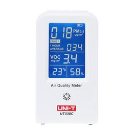 Wholesale Thermometer Hygrometer Precision - Wholesale-UNI-T High Precision Air Quality Detector Indoor VOC PM2.5 Data Logger Detector Air Monitor Thermometer Hygrometer Gas Analyzers