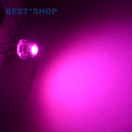 Wholesale Leds Water Clear - Wholesale- 100 pcs lot led 5mm straw hat pink leds Diode Light Emitting Diodes Water Clear ultra bright Wide Angle LED