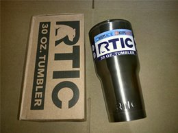 Wholesale Double Cups - DHL RTIC Tumbler 30 oz 20oz RTIC Cups Cars Beer Mug Large Capacity Mug With Vacuum Double Wall Keep Cool or Hot