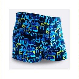 Wholesale Mens Boxer Brief Swim Trunks - Wholesale- Top quality Mens Boys Trunks Swimming Boxer Briefs Trunks SwimWear Beach Holiday Summer Shorts pant