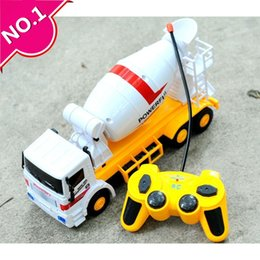 Wholesale Large Motor - Wholesale-Steering wheel car,Large cement truck mixer,Electric Construction vehicles toy, 4-channel wireless remote control, free shipping