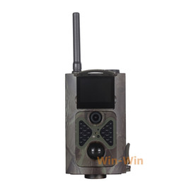 Wholesale Gsm Night Camera - Wholesale-12MP HD Infrared Scouting Trail Camera 2G GSM MMS SMTP SMS IR Night Vision Wildlife Hunting Camera HC500M