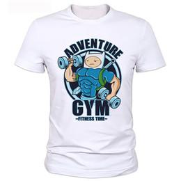 Wholesale Adventure Clothing - Adventure time 2017 New Fashion Men's T-shirts Short Sleeve Tshirt Bodybuilding t shirts Man Clothing