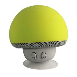 mini fungo wireless Sconti 100pcs Mushroom Mini altoparlante senza fili Bluetooth Hands Free Sucker Cup Ricevitore audio Musica Stereo Subwoofer USB per Android IOS PC 1072