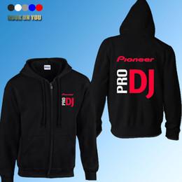 Wholesale Pro Professional Dj - Wholesale-2016 autumn winter fashion pioneer cardigan hoodies thickening professional DJ Pro Pioneer casual sweatshirt zipper jacket