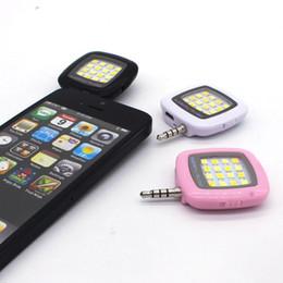 Wholesale Universal Lighting Spotlight - Universal Portable Mini 16 Leds Lamp Selfie Light LED Flash Dimmable Flash Fill-in Light Pocket Spotlight for iphone Smartphone Camera
