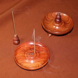 Wholesale Wooden Stand Decoration - wholesale Incense sticks coils incense holder tools wooden stand decoration Multi-function Burma rosewood incense burner wood censer holder