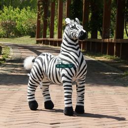Wholesale Toy 43 - Dorimytrader Cute New 110cm Large Soft Emulational Forest Animal Zebra Plush Toy 43'' Big Stuffed Zebra Doll Photography Props DY60800