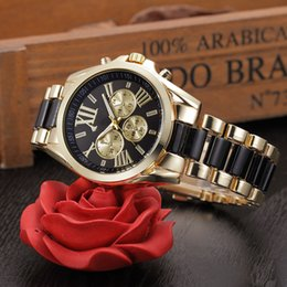 Wholesale Michael Watch Women Black - 2017 New luxury women michael fashion Stainless Steel women's Watch with opp bag packaging free shipping #015