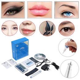 Wholesale Make Permanent - Fast Shipping Digital Permanent makeup Cosmetic Kits eyebrow microblading pens lip eyebrow eyeline cosmeticos make up machine