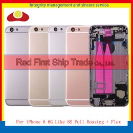 Wholesale Iphone Back Full Housing - High Quality For iPhone 6 6G and 6 6G LIke 6S Back Rear Cover Battery Full Housing Door Chassis Middle Frame With Flex
