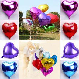 Wholesale Inflatable Balloon Heart Shape - Multicolor Heart Shape Foil Balloons Wedding Party Decoration Love Ballons Heart Inflatable Air Balloon Party Supplies C156Q