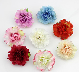 Wholesale Christmas Wholesale Wreath Supplies - Approx 5cm Artificial carnation Flower Head Handmade Home Decoration DIY Event Party Supplies Wreaths G278