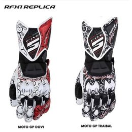 Wholesale Waterproof Motorcycle Gps - FIVE RFX1 tribal gloves MOTO GP protective motorcycle gloves auspicious clouds racing leather gloves 4 Color Free shipping