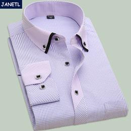 Wholesale Mens Dress Shirts Polka Dot - Wholesale- Mens Casual Shirts Fashion Long Sleeve Brand Printed Male Plus Size Formal Business Polka Dot Floral Men Dress Shirt New 2016