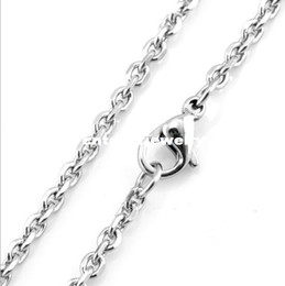 """Wholesale Facet Necklace - Width 1.6mm 2.0mm 2.4mm 3.0mm 4.0mm 5.0mm Stainless Steel Rolo Link Chain Facet O-Shapped D C Cable Chain Necklace (18""""-22"""" inches)"""