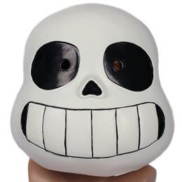 Wholesale Latex Movie Stars - Undertale Sans Mask Black Latex Teen Adult Full Head Mask for Halloween Cosplay Costume Accessory Xcoser