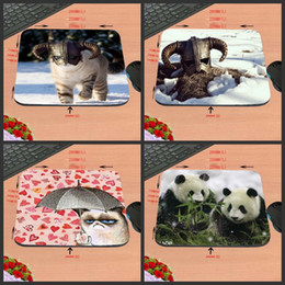 Wholesale Decorating Masks - Masked Dog Game Antiskid Rectangular Durable Computer Mouse Pad, Custom Size, Decorate Your Desk Design as a Gift