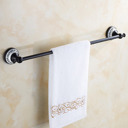 Wholesale Oil Rubbed Bathroom Accessories - Black Oil Rubbed Bronze Wall Mounted High Quality Bathroom Shelves Convenience CornerBath Towel Holder Bathroon Accessories