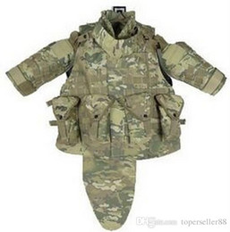 Wholesale Combat Body Armor - Outdoors Tactical Paintball Airsoft OTV Body Armor Durable Carrier Combat Vest Men Soft Cushion Pads Full Adjustable Wa