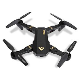 Wholesale Wholesale Video Lighting - Newest Design Drone Folding Quadrocopter Camera With Wifi Real-time Sharing Flashing Light RC Helicopter Four Axis Unmanned Aerial Vehicle