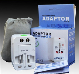 plug eu au travel white Promotion All in One Universal International Plug Adaptateur World Travel AC Chargeur Adaptateur avec AU US UK EU convertisseur Plug + livraison gratuite
