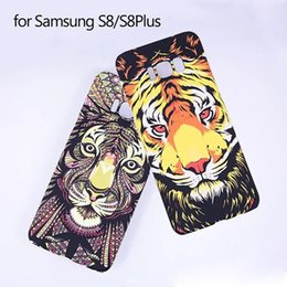 Wholesale Rhino Cover - For Samsung S8 Plus Case 3D Animal Pattern PC Cover Tiger Lion wolf rabbit Rhino Shell for Samsung S8 S 8 Plus Fundas