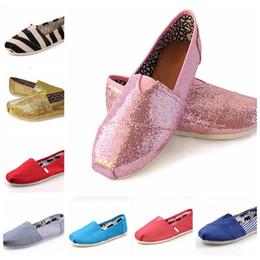 Wholesale Canvas Espadrilles Women - 43 Colors Brand New Unisex Classic Fashion Women Flats Shoes Sneakers Women and Men Canvas Shoes loafers casual shoes Espadrilles Size 35-45