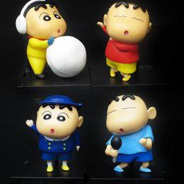 Wholesale Shin Chan Toys - 4pcs set Anime Crayon Shin-chan Mini PVC Action Figure Toy, Crayon Shin Chan Figures Toys, Collectible Pendant Model, Kid Toy
