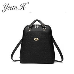 Wholesale Nice Bags For Girls - Nice- Yeetn-H Nice Vogue Women Backpack High Quality Genuine Leather School Bags For Teenagers Girls Top-handle Backpacks Y1119