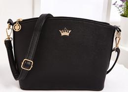 Wholesale Dark Blue Brown Leather Bag - Hot Sold Mini Women Messenger Bags Shell Cross Body shoulder bags leather handbag