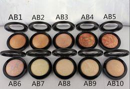 Wholesale makeup mineralize skinfinish face powder - 10Pcs Lot NEW Makeup Face Mineralize Skinfinish Poudre 10 Colors Face Powder 10g