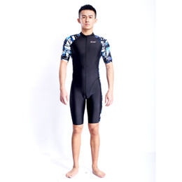 Wholesale Women S Diving Suits - High Quality Fastskin quick dry women and men diving suit short sleeve with zip one piece swimsuit Rash Guards swimwear HX16