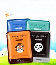Wholesale Animal Masks Panda - BIOAQUA Tiger Panda Sheep Dog Shape Animal Face Mask Moisturizing Oil Control Hydrating Nourishing Facial Masks Free shipping
