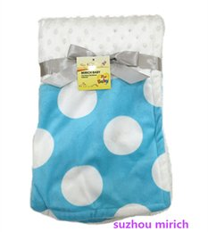 Wholesale Hot Sale Patch work bubble and big dot design baby blanket Colorful Fashion Style x100cm Double layer