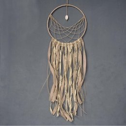 Wholesale Antique Style Wall Lights - Fashion Gift India Lace & Stone Dreamcatcher Tassel Wind Chimes Indian Style Feather Pendant Dream Catcher Wall Hanging Decoration Ornament