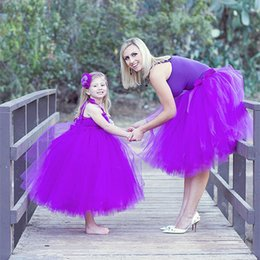 2017 Party Dresses Lovely Ball Gown Mother And Daughter Matching Dress  Short Prom Dressess Party Dress Tulle Tiered Flower Girls  Dresses e1572c946eb5